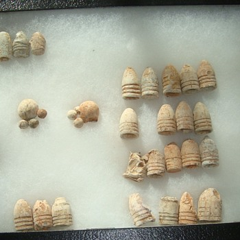 Civil War Excavated Bullets. - Military and Wartime