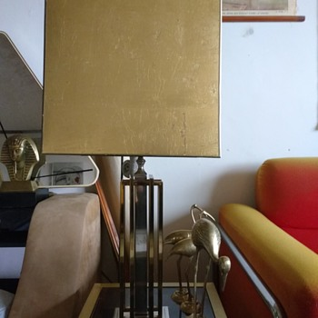 brass mid-century table lamp - Lamps
