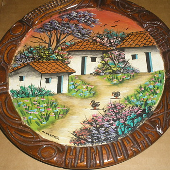 PAINTING ON WOOD ALVARENGA - Folk Art