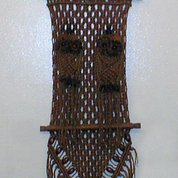1970's - Macrame Owl Wall Hanging - Rugs and Textiles