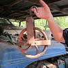Wooden or Cast iron pulley
