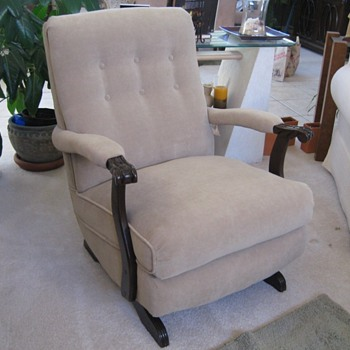 Platform Rocker Upholstered 1950's - Furniture