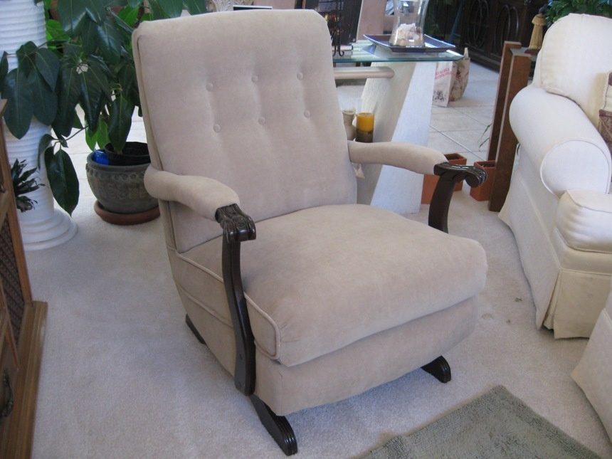 & Platform Rocker Upholstered 1950u0027s | Collectors Weekly