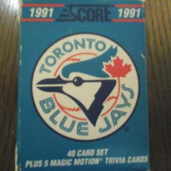 Toronto Blue Jays Score 1991 - Baseball