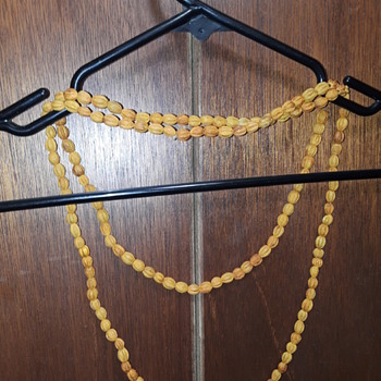 costume jewelry #4, orange-ish 'nut beads'? - Costume Jewelry
