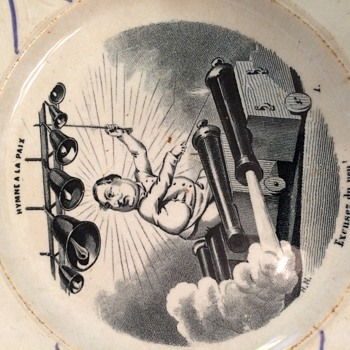 French Plate POLITICAL CARTOON - History? - Pottery