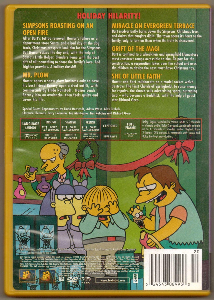 The Simpsons Christmas Dvd.The Simpsons Christmas Dvd Movie Collectors Weekly