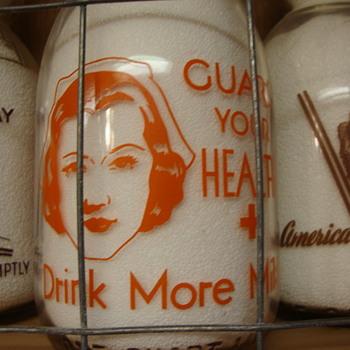 MARIGOLD DAIRY...RACINE WISCONSON CREAMTOP WAR SLOGAN...NURSE - Bottles