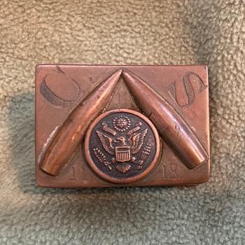 Trench Art matchbox holder - Folk Art