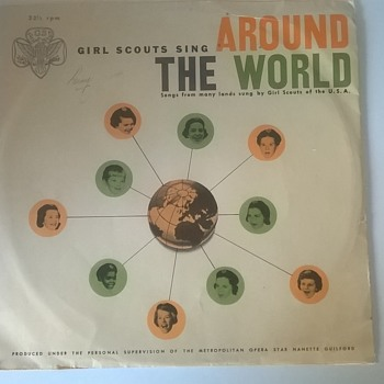 Something For Brunswick? :-) 1960 Girl Scouts Sing Around The World Vintage Vinyl Record