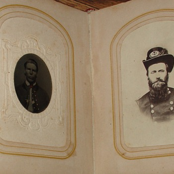 Red Photo Album from 1800's...Picture Found Of Ulysses S. Grant...18th President Of The United States Of America (1869-1877) - Photographs