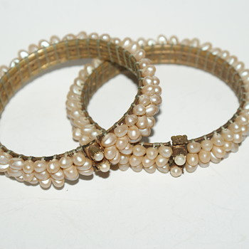 Pair of Faux Pearl Bracelets  - Costume Jewelry