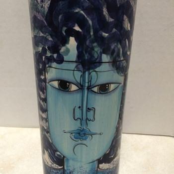 Three Face Ceramic vase - Pottery