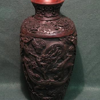 Strange dragon vase - Asian
