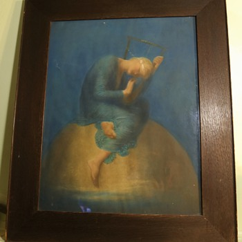 Hope by G. F. Watts - a beautiful antique print i got online - Posters and Prints