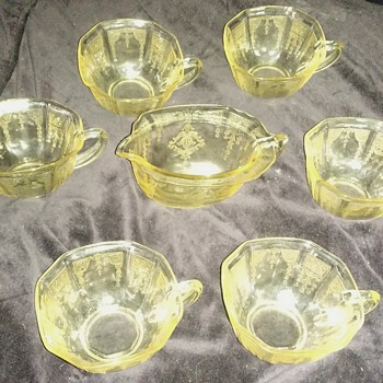 My first set of depression glass
