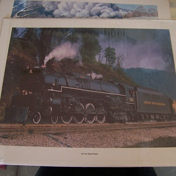 Charles S. Roberts Train Prints 1973...Barnard Roberts Co. Est. in 1973 - Posters and Prints