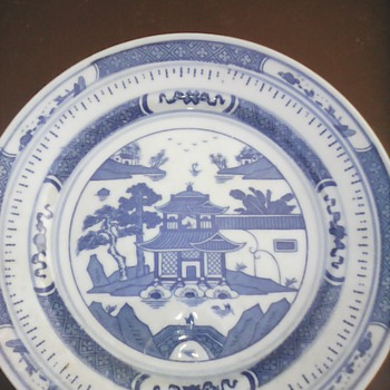 My blue and white plate - Asian