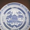 My blue and white plate