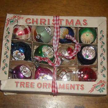 Vintage Glass Christmas Tree Ornaments - Christmas