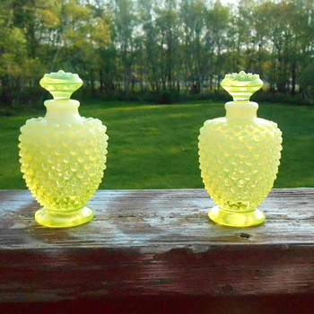 Fenton Vaseline Perfume Bottles