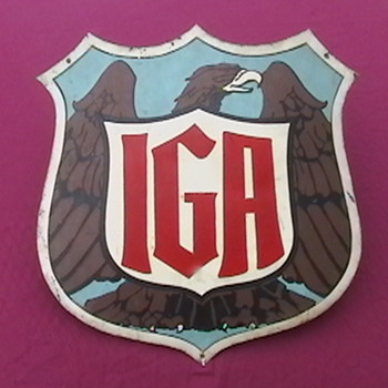 1930's International Grocer's Association Sign. - Advertising