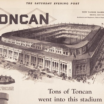 TonCan Advertisement Featuring Yankee Stadium in 1923 - Advertising