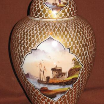 Dresden Porcelain Netting lidded Urn by Helena Wolfsohn C1850 - China and Dinnerware