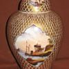 Dresden Porcelain Netting lidded Urn by Helena Wolfsohn C1850