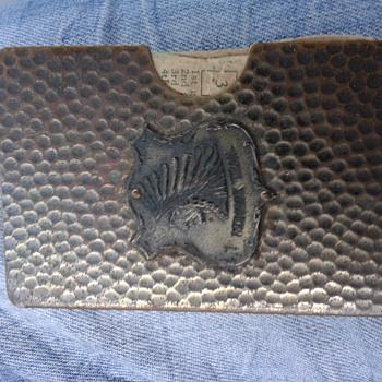 Antique Mohawk Trail Card Bronze Holder