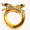 Vintage Double Snake Head Bypass Bracelet