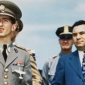 Part 6  P-39 Airacobra Brooch  King Peter II June 1942  Visits Lawrence D. Bell, Founder of Bell Aircraft Co. - Fine Jewelry