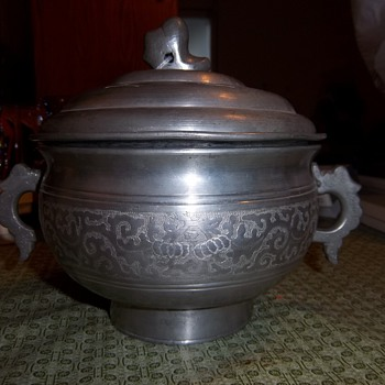 Silver double pot? from China  - Silver