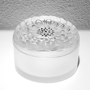"Lalique - ""Dahlia"" powder box pre 1978 - Art Glass"