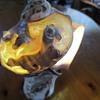 pretty carved shell vase
