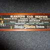 Illinois Traction Sleeping Car Service Sign