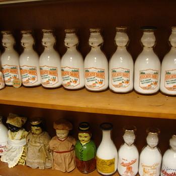 Associated Dairy baby tops....Los Angeles California... - Bottles