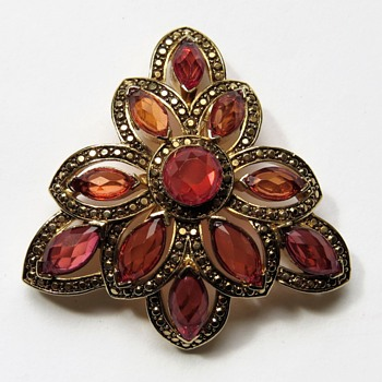 Monet Rhinestone Brooch - Costume Jewelry