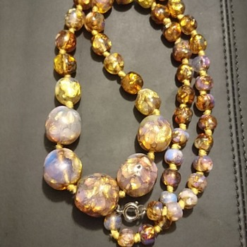 Vintage Handblown glass necklace - Help Needed  - Costume Jewelry