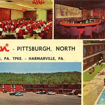 Two Vintage Motel Postcards