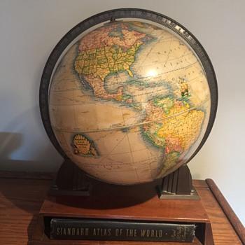 1942 World Globe and Atlas - Office