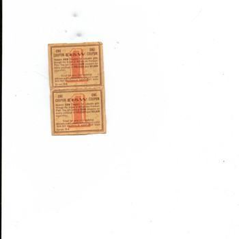 Cigarette coupon - Tobacciana