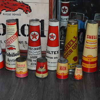 conical can collection - Petroliana