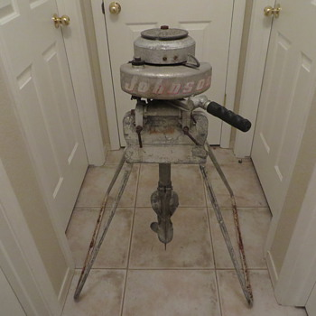 Awesome Johnson LS38 with original stand compleet - Fishing