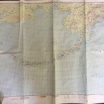 US Army Air Forces Radio Direction Finding Chart March 1945
