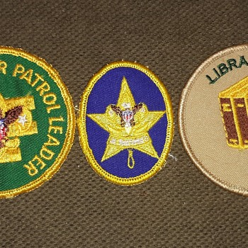 Saturday Evening Scout Post Boy Scout Patches and Shirt 1980s. - Medals Pins and Badges