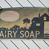 Pre - 1920's Cardboard Trolley Car Fairy Soap Advertisement Sign