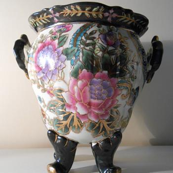 Any ideas??  Very unusual flower vase! - Asian