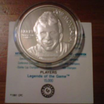 joe montana player of the decades 1 oz troy silver coin 1991