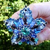 RARE Juliana star brooch shades of blue